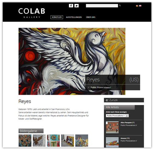 COLAB Gallery - Neue Website